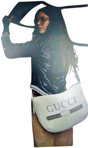 Gucci Unisex Large White Half Moon Shoulder Bag