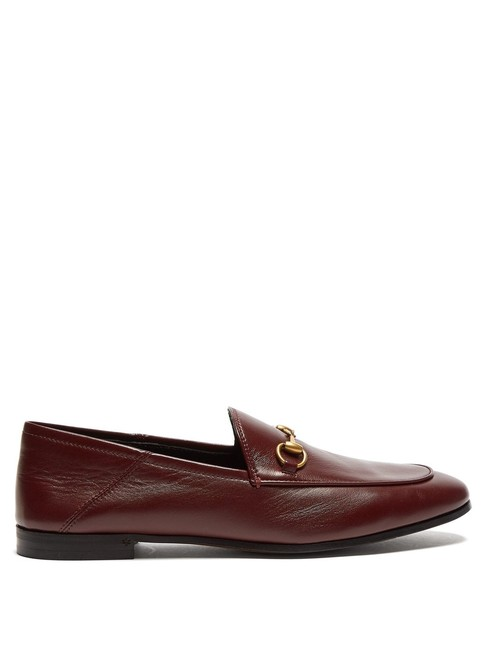 Item - Burgundy Mf Brixton Collapsible-heel Leather Loafers Flats Size EU 37.5 (Approx. US 7.5) Regular (M, B)