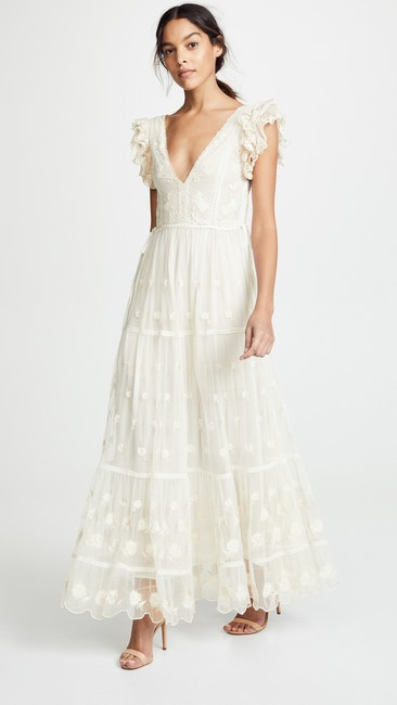Item - Pearl (Antique White) Nylon Fifi Casual Wedding Dress Size 6 (S)