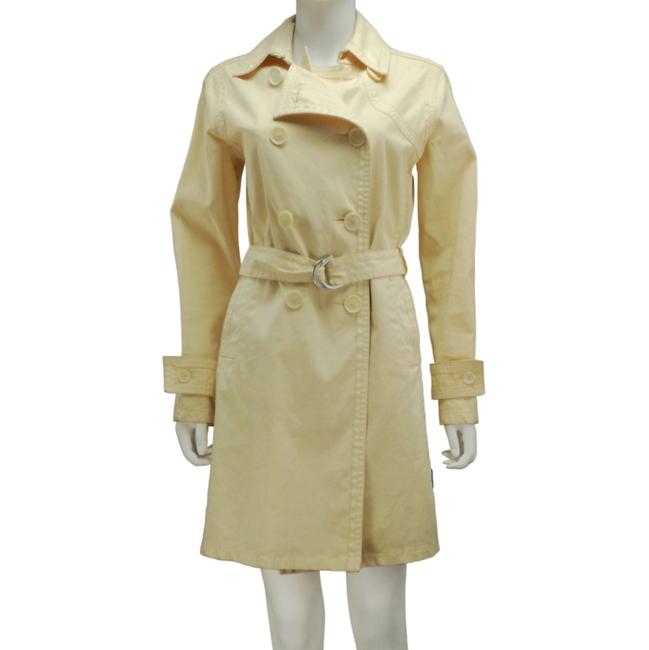 Item - Beige Long Double-breasted Cotton Blend Coat Size 0 (XS)