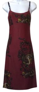 Betsey Johnson short dress Burgundy on Tradesy