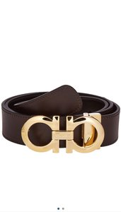 Salvatore Ferragamo men's belt Gancio adjustable reversible black