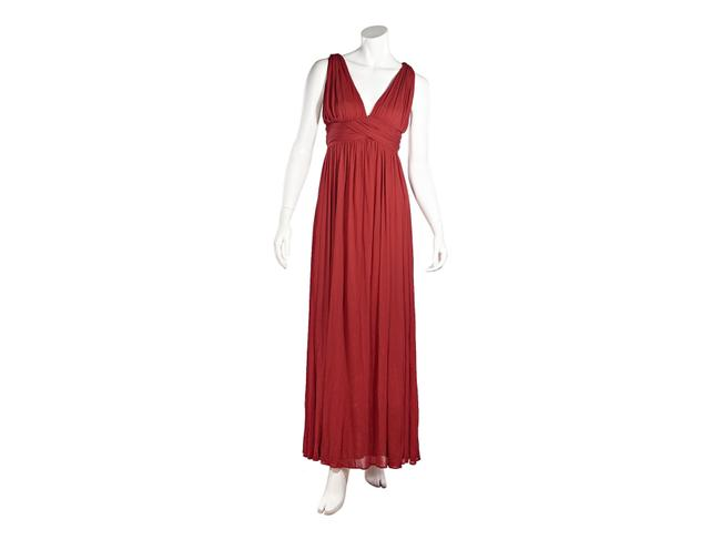 Alexander McQueen Red Pleated Casual Maxi Dress Size 0 (XS) Alexander McQueen Red Pleated Casual Maxi Dress Size 0 (XS) Image 1