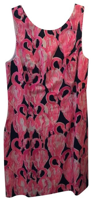 Item - Navy Hot Pink and White Cocktail Mid-length Short Casual Dress Size 8 (M)