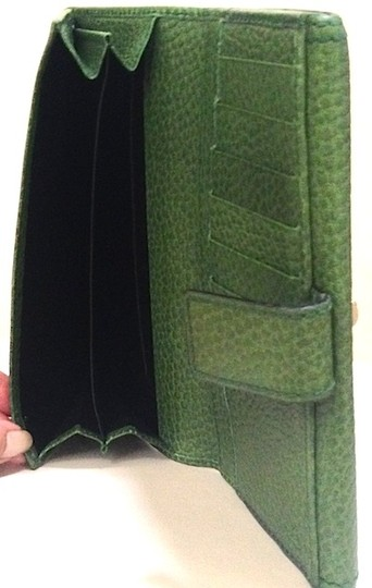Gucci Long Wallet Clutch with Bamboo Accent