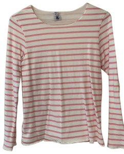 Petit Bateau T Shirt White and Pink