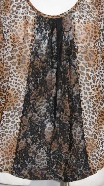 Lily White Top Leopard