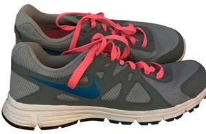 Nike great with pink laces and subtle blue detailing Athletic