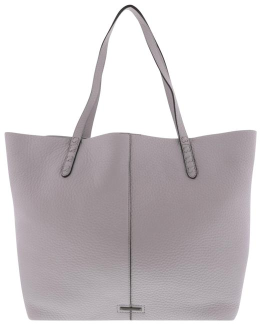 Item - Unlined with Whipstitch Grey Leather Tote