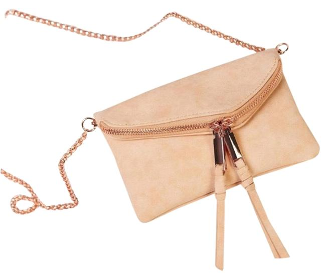 Item - Twin City Neutral Faux Pony Or Vegan Suede Cross Body Bag