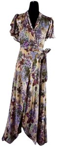 Purple Maxi Dress by RAGA Feminine Floral Ruffles Romantic Girly