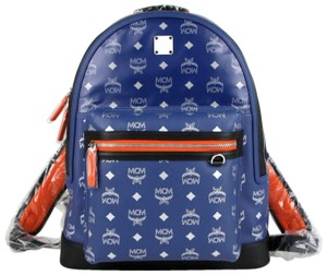 MCM Resnick Leather Reflective Backpack