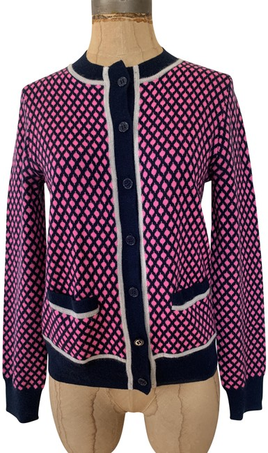 Item - Blue Pink Pre-owned Collection Featherweight Cashmere Cardigan Size 6 (S)