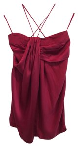 Sisley Red Silky Silk Dress