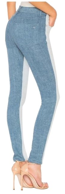 Item - Blue Light Wash High Rise In Double Woman New Skinny Jeans Size 24 (0, XS)