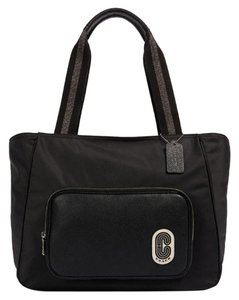 Coach Taylor Leather Platinum Tote in black