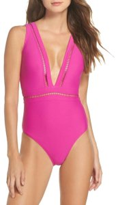 Ted Baker Ted Baker Starza Pointelle Fuchsia One Piece Swimsuit