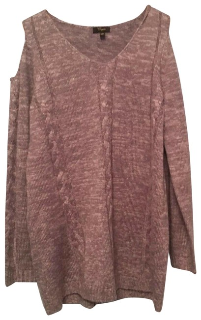 Item - Large Size Color Acrylic Style Sm24730 Grey Sweater