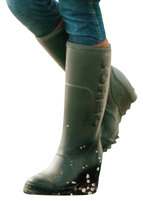 Item - Green Joan Tall Rain Wedge Winter Woman Boots/Booties Size US 10 Regular (M, B)