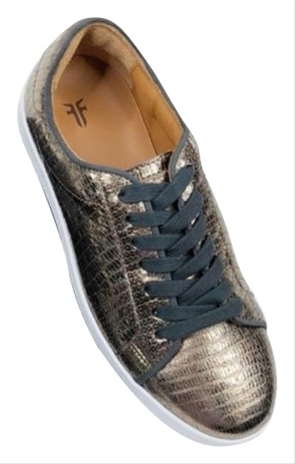 Item - Gold Bronze Alexis Low Lace Metallic Made In Italy Woman New Sneakers Size US 6.5 Regular (M, B)