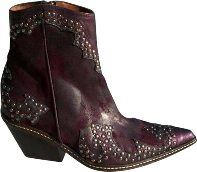 Item - Wine Purple Ish Couture Vintage Suede Crush Leather New Boots/Booties Size US 6.5 Regular (M, B)
