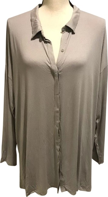 Item - Silver Jersey Classic Collar Button-down Top Size 20 (Plus 1x)