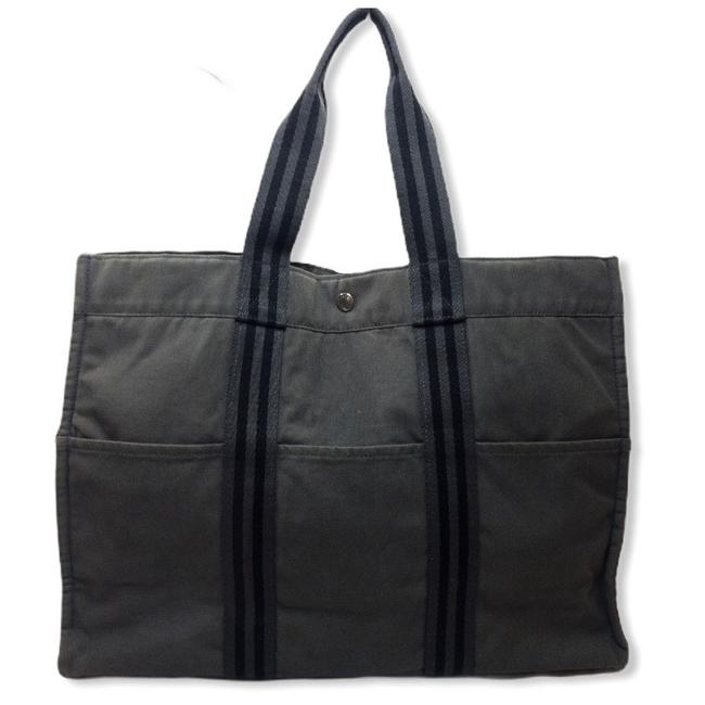 Item - Bag Fourre Gm Large Laptop Beach Business Grey/Black Canvas Tote