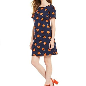 Draper James short dress Blue Poppy A-line Sheath Midi Floral on Tradesy