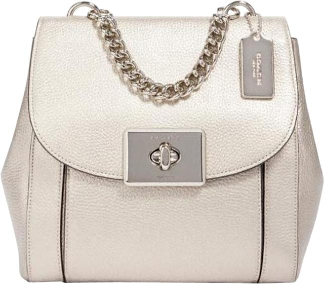 Item - Cassidy Purse 87694 Gold Pebble Leather Backpack