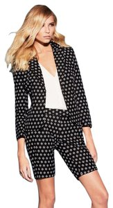 Vince Camuto Black And White Three Quarter Sleeve Versatile Blazer