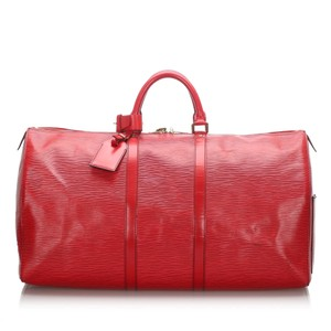 Louis Vuitton 0clvtr010 Vintage Leather Red Travel Bag