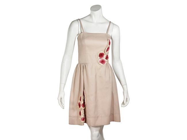 Item - Pink Floral Short Casual Dress Size 4 (S)