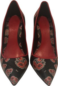 Alexander McQueen Black and Red Pumps