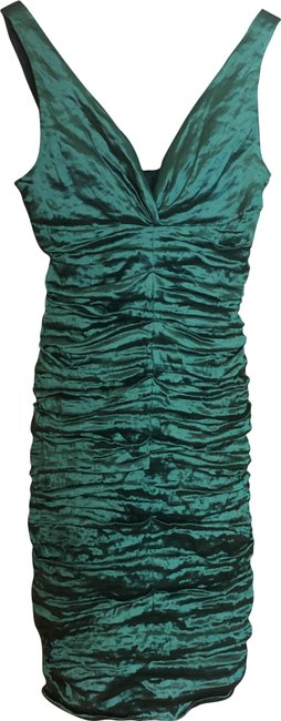 Item - Metallic Green Short Formal Dress Size 2 (XS)