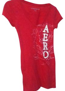 Aéropostale Beaded V-neck T Shirt Hot Pink