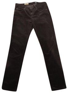 AG Adriano Goldschmied Straight Pants Brown