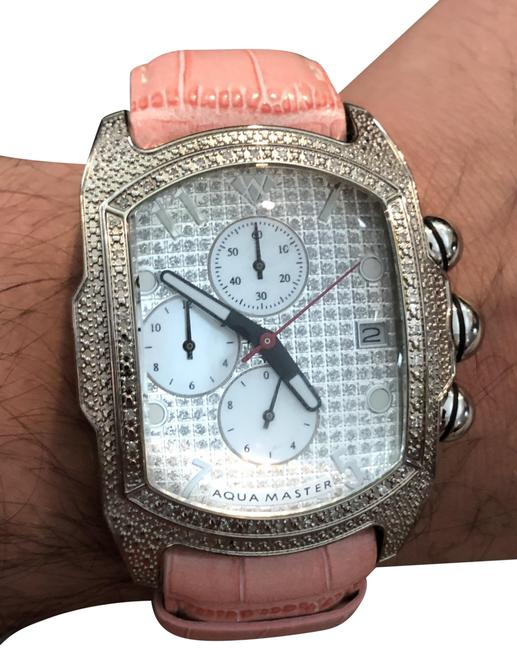 Item - Pink/Silver Stainless Steel Band Watch