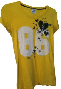Victoria's Secret T-shirt Top Yellow