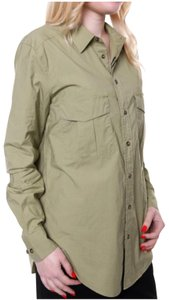 Massimo Dutti Button Down Shirt green khaki