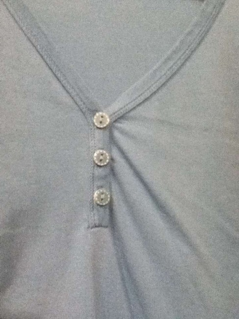 Old Navy Buttons V-neck T Shirt Blue