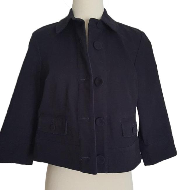 Item - Navy Button Down Pea Coat Jacket Size 4 (S)