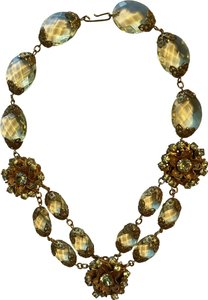 Miriam Haskell Miriam Haskell Lemon Yellow Crystal Necklace