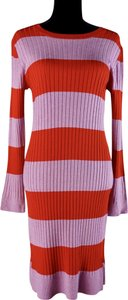 525 America short dress Pink & Red Stripes Bodycon Longsleeve Sexy Purple on Tradesy