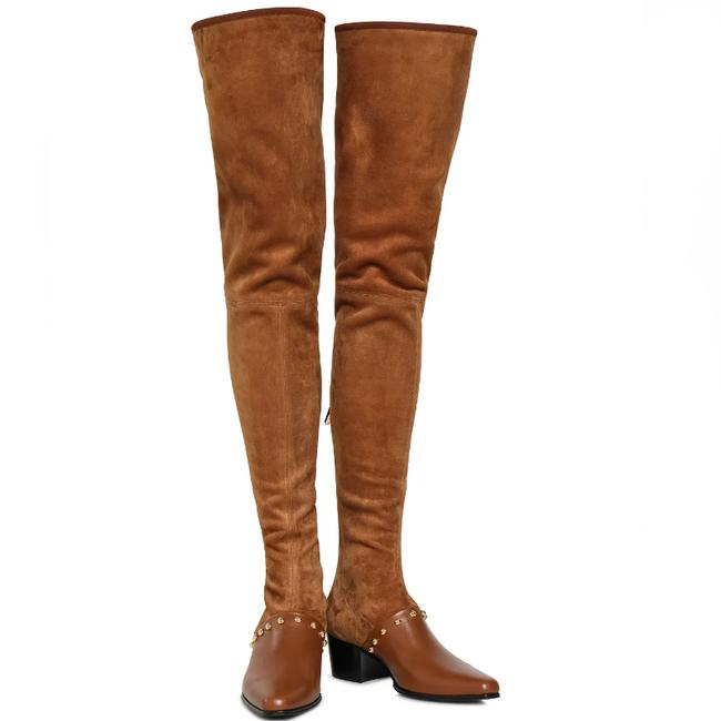 Item - Brown New 50mm Billie Stretch Suede Thigh High Boots/Booties Size EU 37 (Approx. US 7) Regular (M, B)