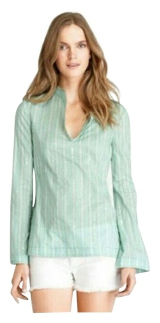 Item - Green Stephanie Tunic In Oceannic Blouse Size 0 (XS)