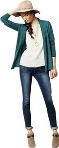 Anthropologie Angel Of The North Sweater Pleated Belted Knit Cardigan