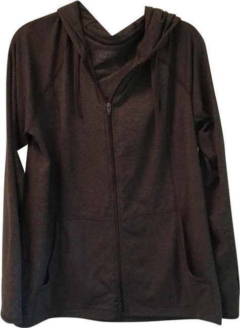Item - Lightweight Charcoal Gray Hoodie Activewear Size 14 (L)