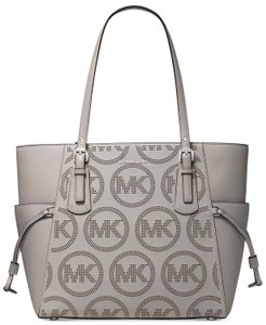Michael Kors Voyager Multifunction Perforated Logo Tote in White