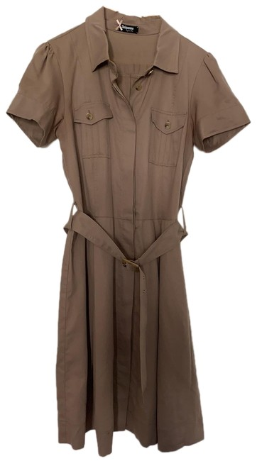 Item - Khaki Like New Mid-length Work/Office Dress Size 8 (M)