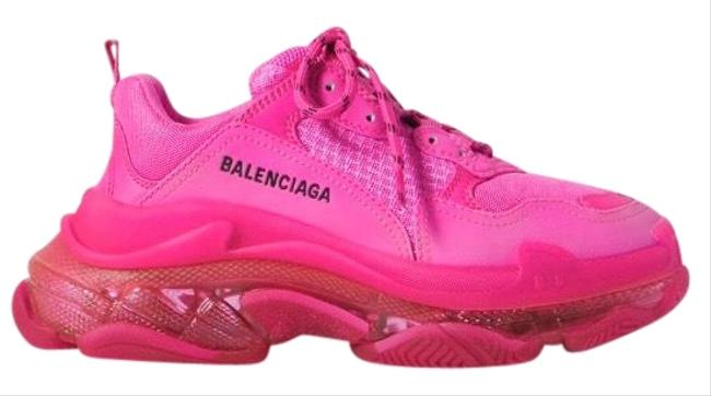 Item - Pink Triple S Clear Sole Dad Sneakers Size EU 39 (Approx. US 9) Regular (M, B)